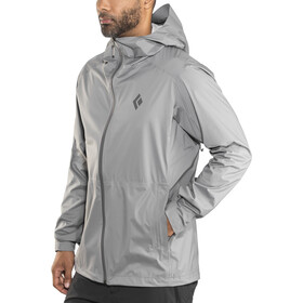 Black Diamond Stormline Chaqueta Stretch Rain Shell Hombre, ash